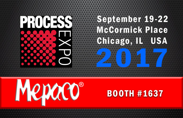 Mepaco Will Exhibit at Process Expo - Sept. 19 -22, Chicago