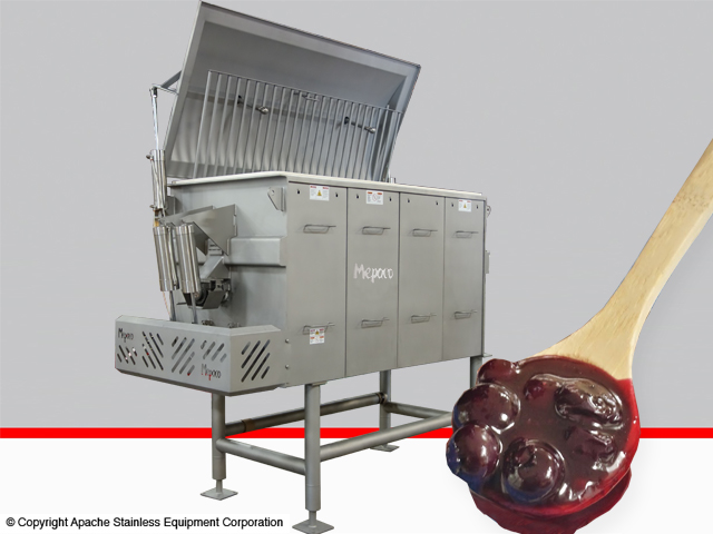 Cooker/Chiller Equipment with close up of a spoonful of cherry pie filling